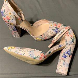 Aldo floral block heels